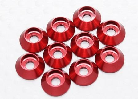 "Kuza Wide Washer 3mm Red (with ""O"" Ring)"