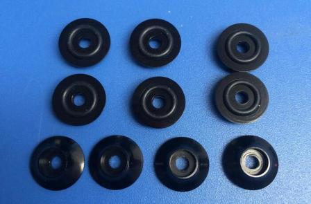 "Kuza Wide Washer 3mm Black (with ""O""Ring"