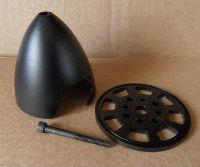 """Aluminium Spinner 3.5"""" (Black)"""