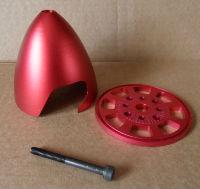 """Aluminium Spinner 3.0"""" (Red)"""