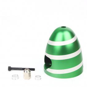 Aluminium Spinner Spiral Green 3 inch