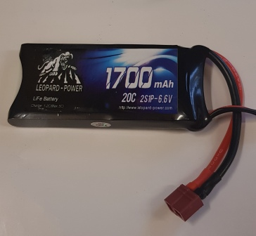 Leopard LiFe Batteries 6.6v 1700/20c